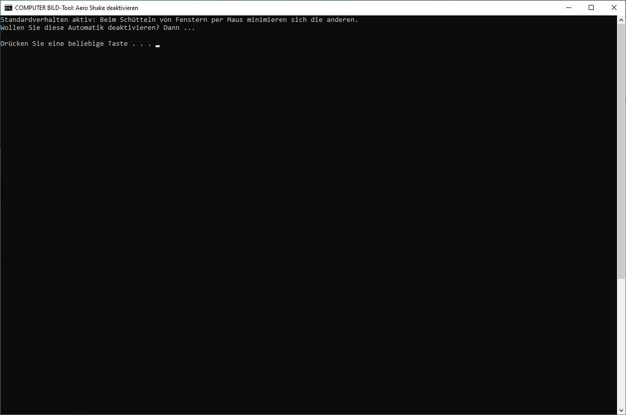 Screenshot 1 - Aero Shake deaktivieren