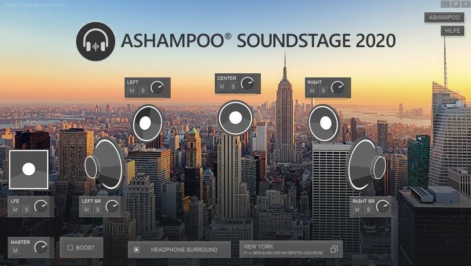 Screenshot 1 - Ashampoo Soundstage 2020 – Kostenlose Vollversion