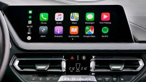 Apple CarPlay Interface in einem Fahrzeug von BWM.©BMW