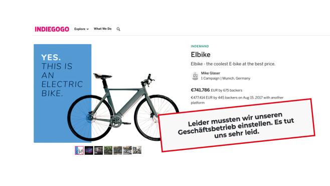Crowdfunding von Elbike auf Indiegogo gescheitert©Elbike, Indiegogo, Urbike