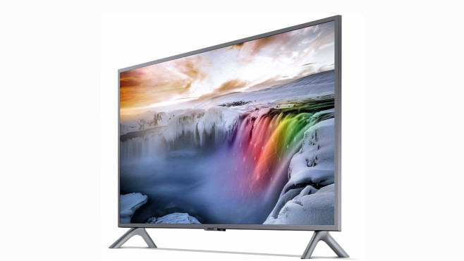 Samsung GQ32Q50: Der kleinste QLED-Fernseher der Welt Samsung GQ32Q50R: Mit 80 Zentimetern Bilddiagonale ist das der bislang kleinste QLED-Fernseher.©Samsung