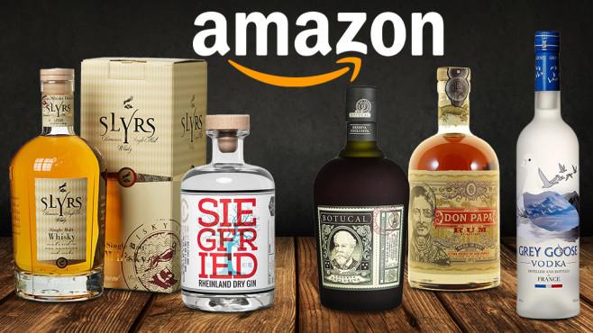 Amazon Spirituosen©Amazon, iStock.com/oxinoxi