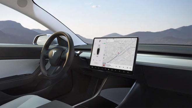 Tesla Model 3 Display©Tesla