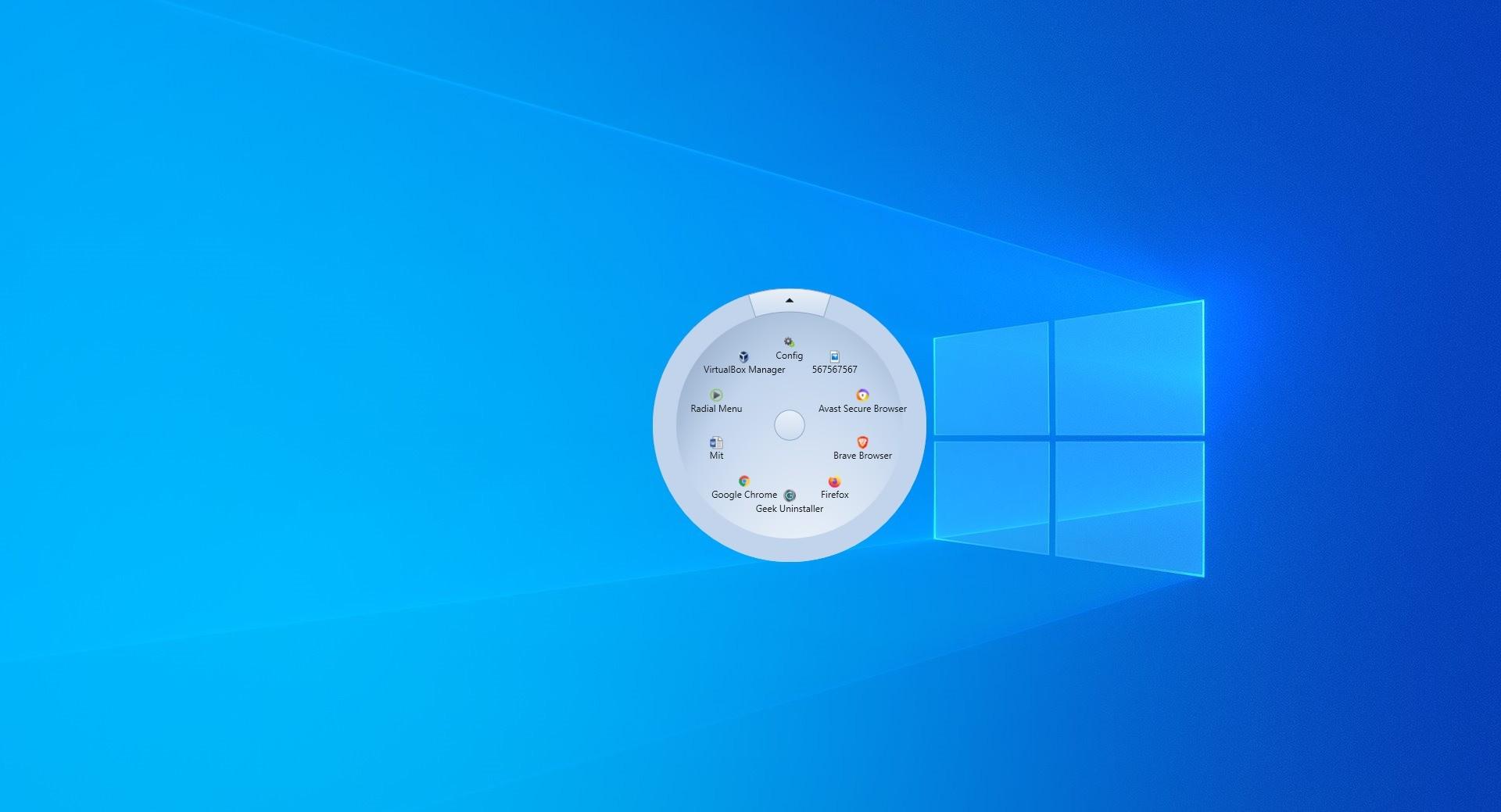 Screenshot 1 - Radial Menu