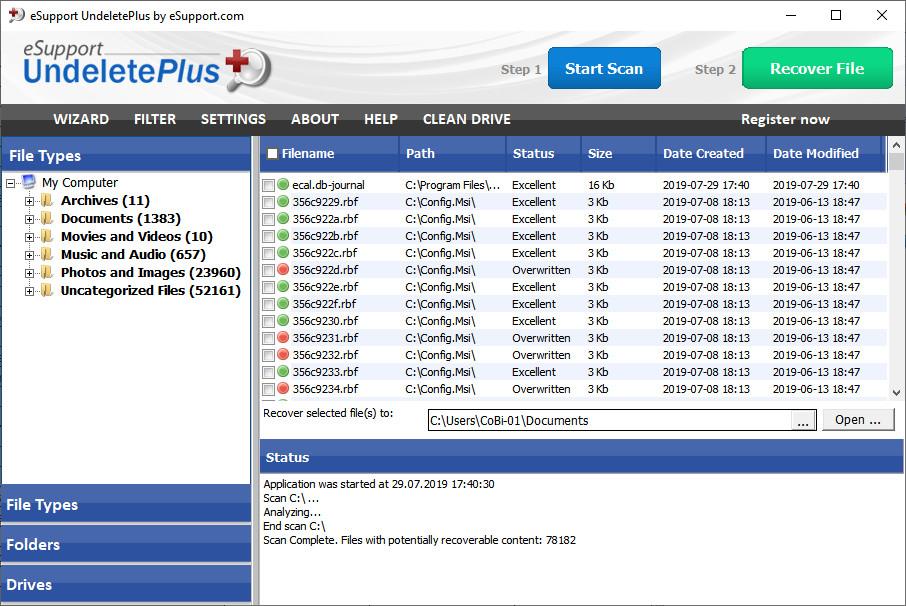 Screenshot 1 - UndeletePlus