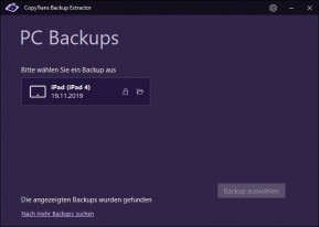 CopyTrans Backup Extractor