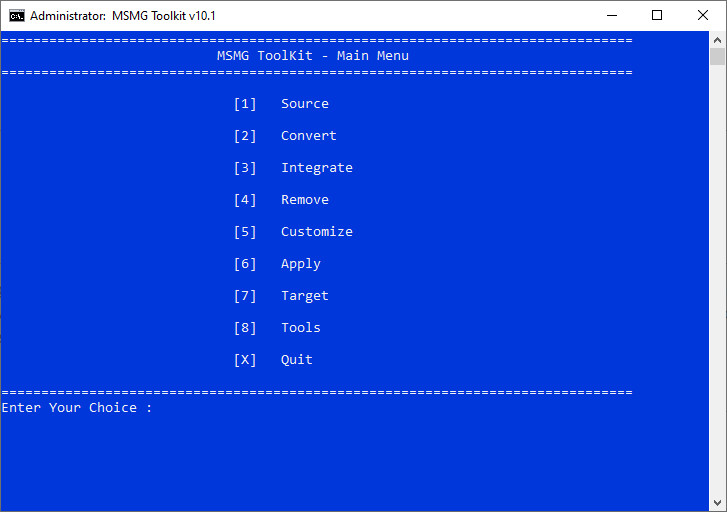 Screenshot 1 - MSMG ToolKit