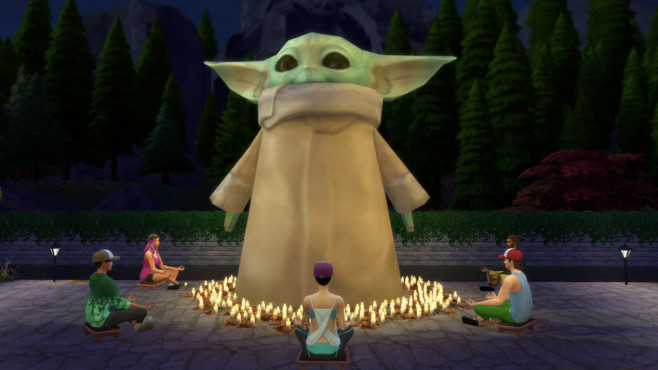 Die Sims 4: Baby Yoda©Electronic Arts / Twitter.com