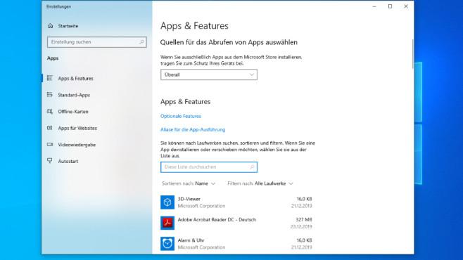 Windows 10 1909: Einstellungen-App©COMPUTER BILD