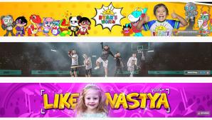Die drei erfolgreichsten YouTube-Kanäle 2019©YouTube