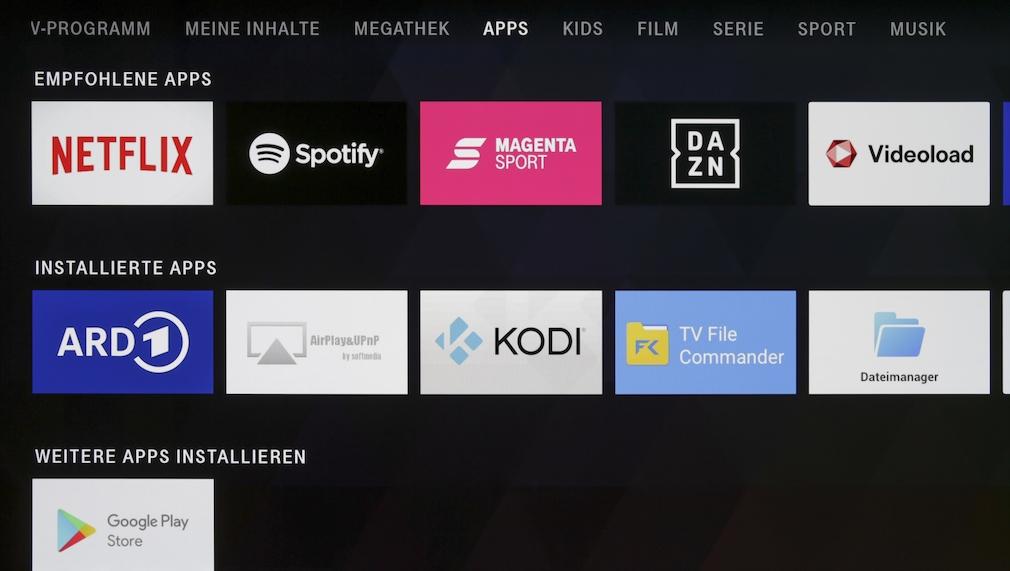 Magenta TV-Stick mit Android-Apps