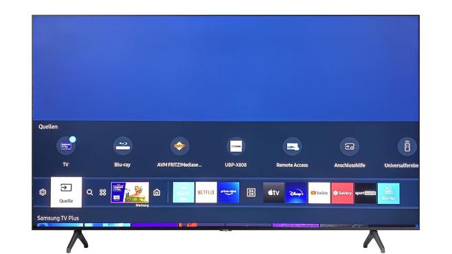 Samsung TU7079 im Test: Schon der günstige Samsung ist ziemlich smart.©COMPUTER BILD