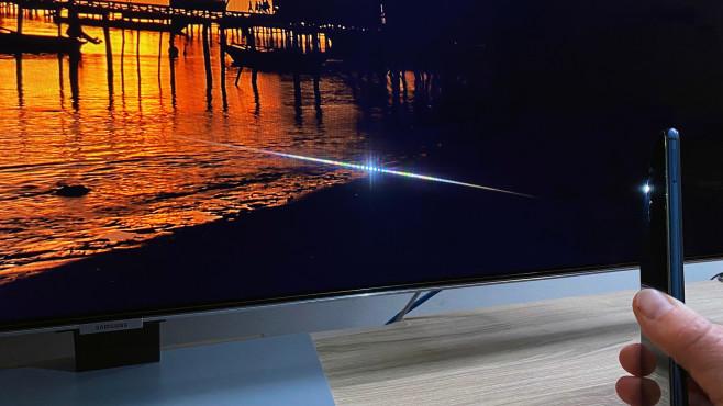 Samsung stattet seine Fernseher ab der Modellreihe Q84T mit hervorragend entspiegelten Bildschirmen aus©COMPUTER BILD
