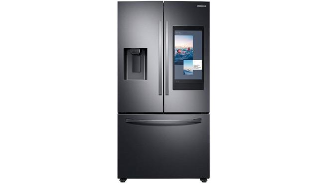 Samsung Family Hub Kühlschrank vor weißem Hintergrund©Samsung