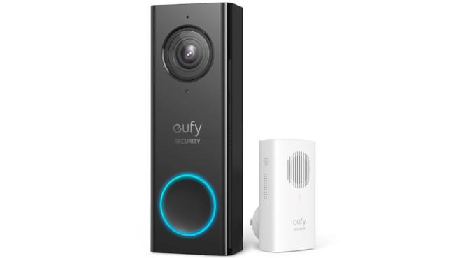 Die smarte Klingel eufy Security Video Türklingel vor weißem Hintergrund©Anker