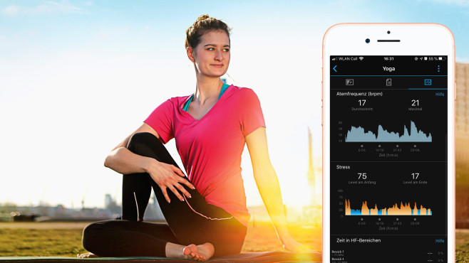 Atemfrequenz beim Yoga©COMPUTER BILD, Apple