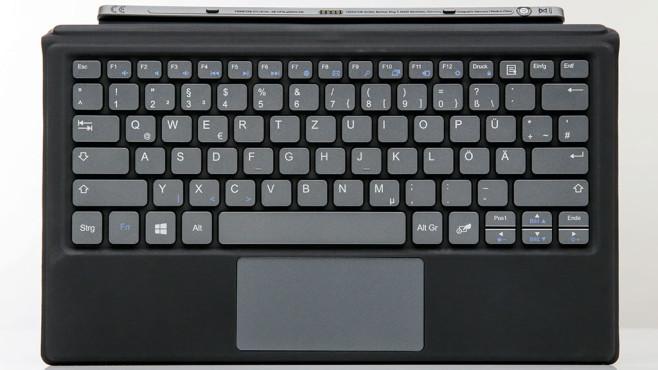 Die Tastatur des Trekstor Primetab S11B in der Nahaufnahme.©COMPUTER BILD