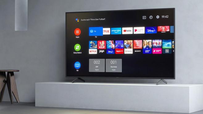 Sony stattet seine Fernseher ab der Modellreihe XH80 mit dem Android-Betriebssystem aus.©Sony, COMPUTER BILD