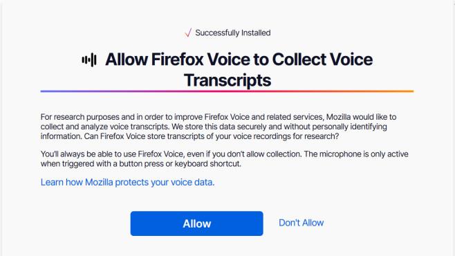 Firefox Voice©Mozilla