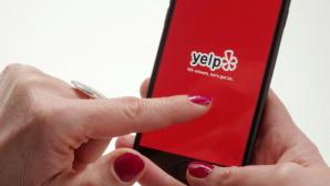 Yelp-Logo auf Handy©dpa-Bildfunk