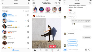 Instagram Chat © Instagram
