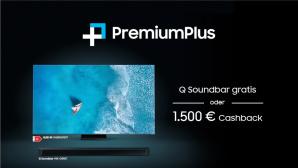 Premium Plus Programm bei Samsung: Q-Soundbar gratis oder 1.500 Euro Cashback.©Screenshot Hersteller