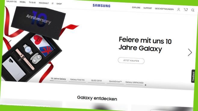 Samsung Store: Online Studenten-Rabatt sichern©Screenshot www.Samsung.com