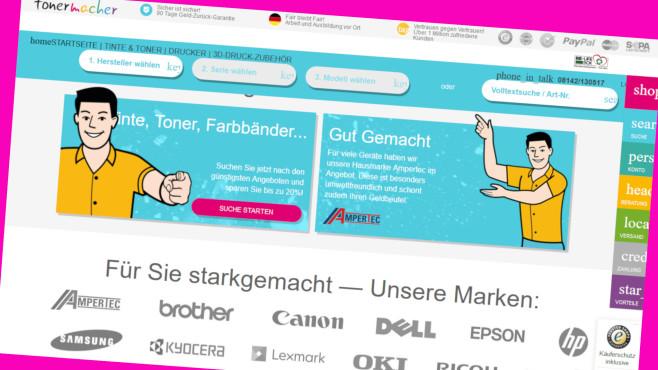 Tonermacher:Gratis-Versand für Hausmarke Ampertec©Screenshot www.tonermacher.de