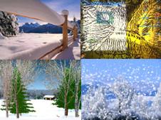 download: winter-bildschirmschoner, screensaver, schnee - computer bild