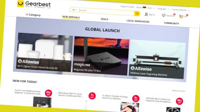 Gearbest Sparen mit Online-Gutscheinen©Screenshot www.gearbest.com