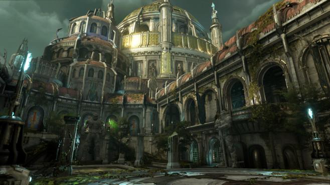 """Doom Eternal in der Vorschau: Klick, Klick, Doom! Ganz neue Töne: In """"Doom Eternal"""" geht es unter anderem wieder auf die Erde.©Bethesda"""