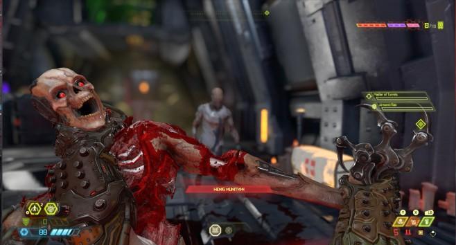 Doom Eternal in der Vorschau: Klick, Klick, Doom! Kurz vorm Glory Kill: Die Finisher sind eine reine Blutorgie. Und die Gegner sehen ziemlich gruselig aus.©Bethesda
