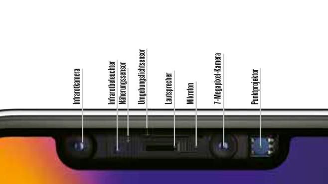 Sensoren beim iPhone X©COMPUTER BILD