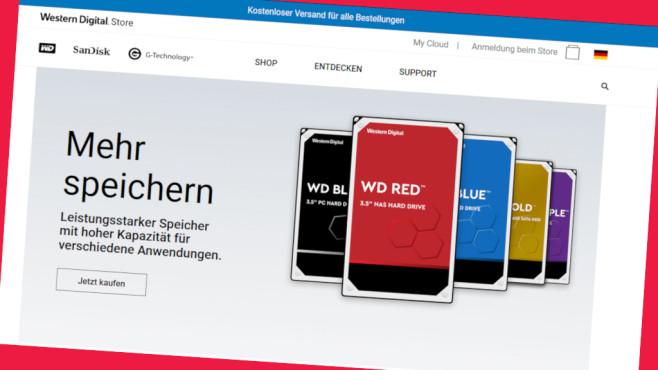Western Digital: Studenten-Rabatt für jeden Einkauf sichern©Screenshot shop.westerndigital.com