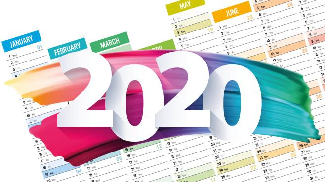 Kalender 2020©iStock.com/titoOnz, iStock.com/MariaTkach