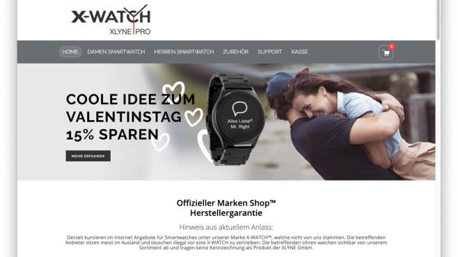 Screenshot Homepage X Watch©Screenshot x-watch.shop