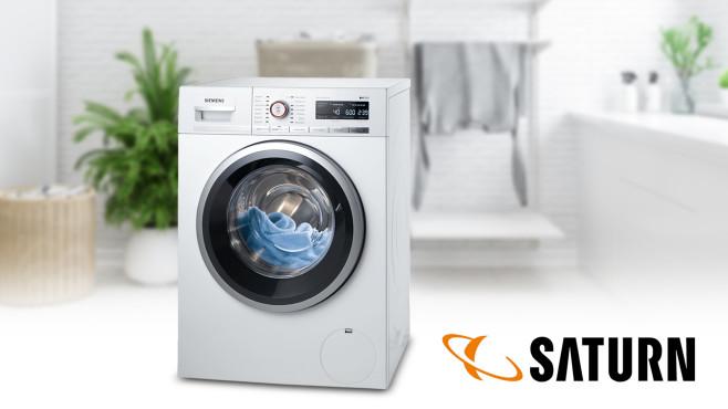 Waschmaschine bei Saturn: Modell von Siemens zum sauberen Preis©Saturn, Siemens