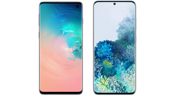 Vergleich der Bildschirmdiagonale von Samsung Galaxy S20 und S10©Samsung