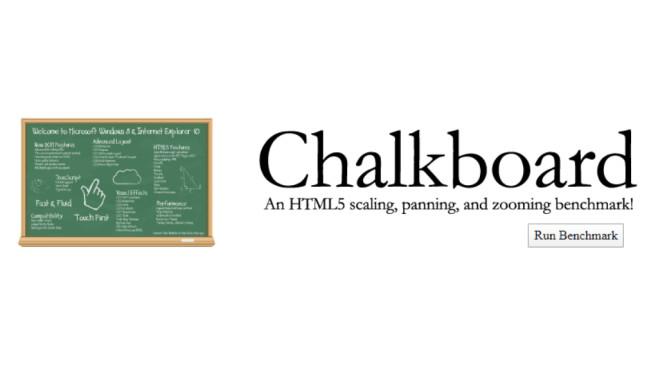 Microsoft Chalkboard (HTML5 Benchmark) ©COMPUTER BILD