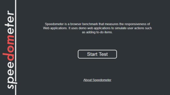 Speedometer 2.0 (Reaktionsfähigkeit von Webanwendungen) ©COMPUTER BILD