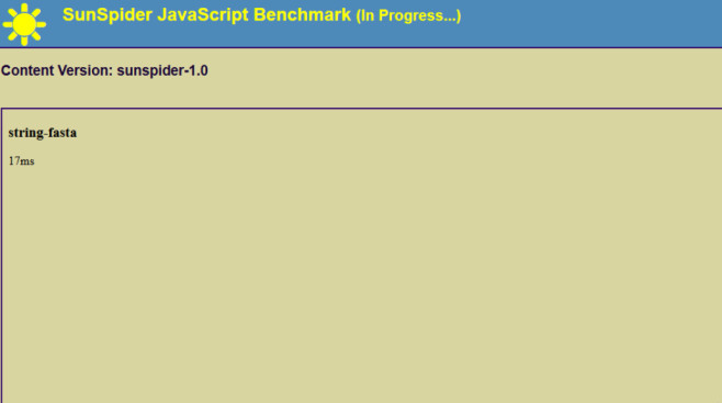 Sunspider 1.0 (JavaScript Benchmark; weniger Millisekunden = besser) ©COMPUTER BILD