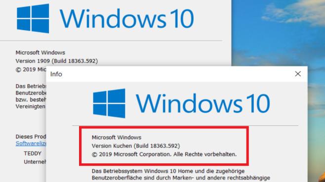 """Windows-10-Version ändern: So modifizieren Sie die Versionsnummern-Angabe Windows 7 und 8.1 besitzen keinen HKLM-Registry-Eintrag unter """"Windows NT\CurrentVersion"""", worin der Entwicklungsstand verzeichnet ist – im Gegensatz zum hier gezeigten Windows 10 (1909).©COMPUTER BILD"""