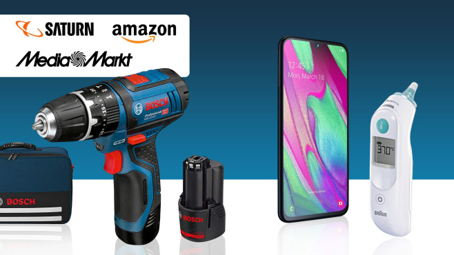 Amazon, Media Markt, Saturn: Die Top-Deals des Tages! © Amazon, Media Markt, Saturn, Bosch, Braun, Samsung