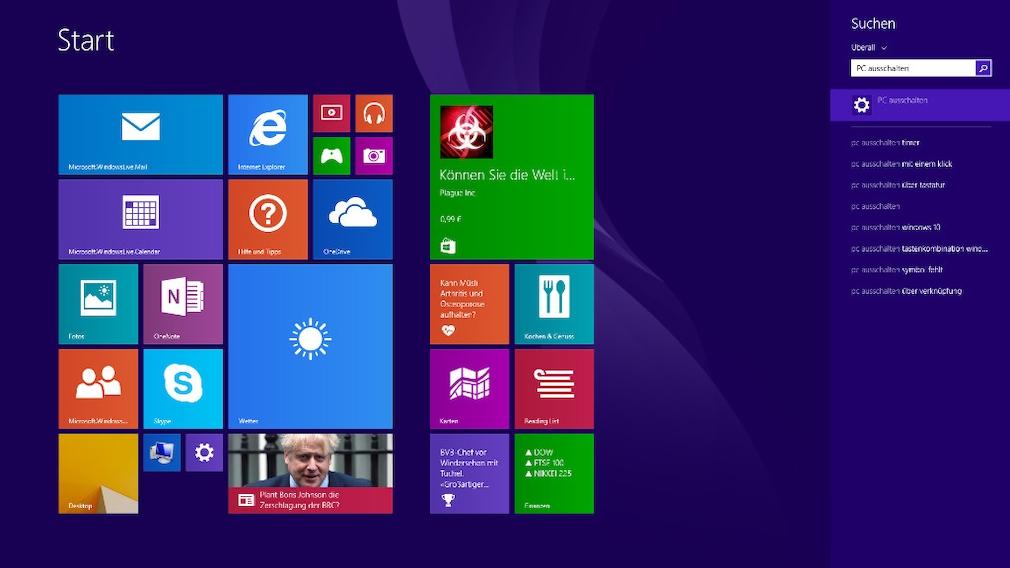 """Windows 8(.1): """"PC ausschalten"""" – die schlechteste Shutdown-Methode"""