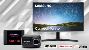 Amazon, Media Markt, Saturn: Die Top-Deals des Tages! © Amazon, Media Markt, Saturn, Samsung, SanDisk, Nextbase, iStock.com/AlexeyVS