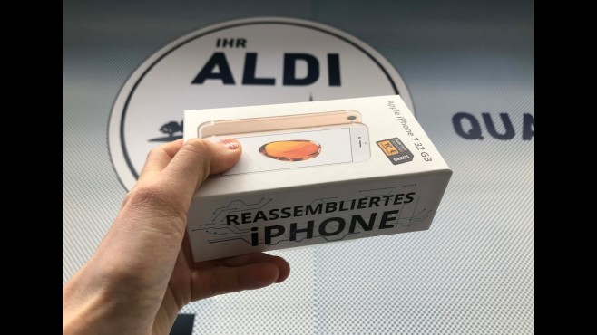 Reassembliertes iPhone 7 bei Aldi © COMPUTER BILD