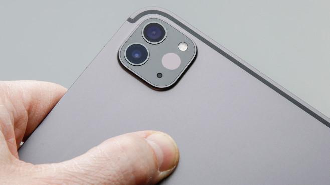 Das Kamerasystem des Apple iPad Pro 2020 in der Nahaufnahme©COMPUTER BILD