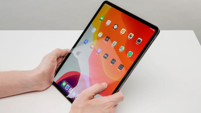 Display des Apple iPad Pro 2020 in der Nahaufnahme©COMPUTER BILD