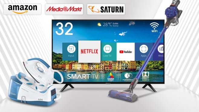 Amazon, Media Markt, Saturn: Die Top-Deals des Tages!©Media Markt, Saturn, Amazon, iStock.com/Rost-9D, Hisense, AEG, Dyson