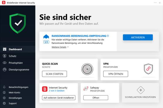 Bitdefender Internet Security©COMPUTER BILD